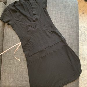 Lululemon Dance Pulse Short Sleeve Dress in Black